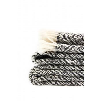 Manta de lana merino y...