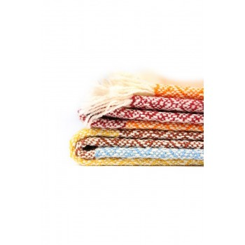 Manta de lana merina tejida...