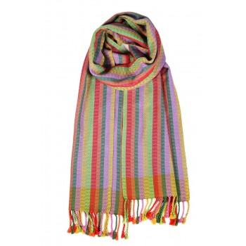 Silk scarf handwoven in loom